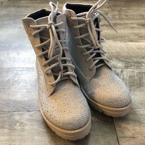 Dolls Kill Rhinestone Diamond Crusher Boots